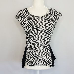 Urban Outfitters Silence Noise white black Top Med